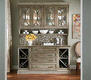 cabinet hutch in dining room
